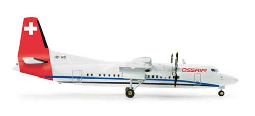 Crossair F-50 (1:200), Herpa 1:200 Scale Diecast Airliners Item Number HE554213