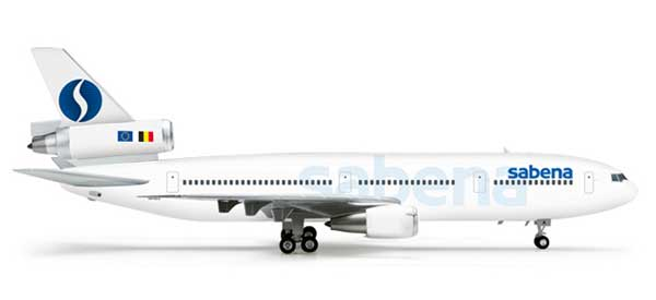 Sabena DC-10-30 (1:200), Herpa 1:200 Scale Diecast Airliners Item Number HE554572