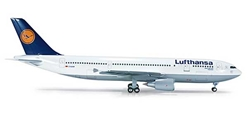 Lufthansa A300-600 (1:200), Herpa 1:200 Scale Diecast Airliners Item Number HE554756