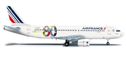 Air France A320 (1:200) 80TH Anniversary, Herpa 1:200 Scale Diecast Airliners Item Number HE556255