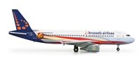 Brussels A320 (1:200) Red Devils, Herpa 1:200 Scale Diecast Airliners Item Number HE556446