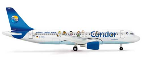 "Condor A320 ""Peanuts Livery"" (1:200), Herpa 1:400 Scale Diecast Airliners Item Number HE562263"