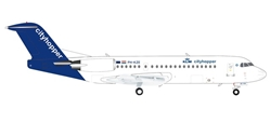 KLM Cityhopper Fokker 70 (1:200) by Herpa 1:200 Scale Diecast Airliners