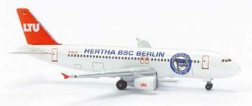 LTU A320 Hertha Bsc Berlin (1:500), Herpa 1:500 Scale Diecast Airliners Item Number HE502153