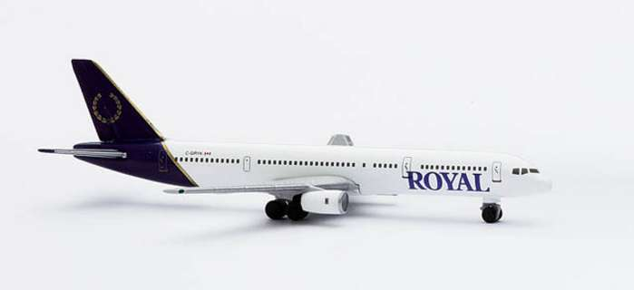 Royal B757-200 (1:500), Herpa 1:500 Scale Diecast Airliners Item Number HE503792