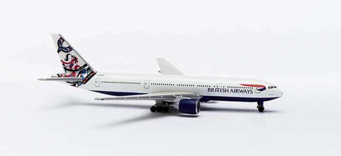 British B777-200 Canada (1:500), Herpa 1:500 Scale Diecast Airliners Item Number HE506502