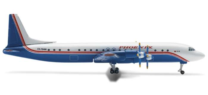 Phoenix Aviation IL-18 (1:500), Herpa 1:500 Scale Diecast Airliners Item Number HE514910