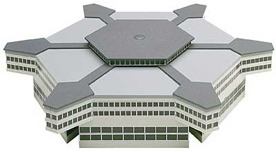 Airport - Hexagonal Departure Hall (1:500), Herpa 1:500 Scale Diecast Airliners Item Number HE519663