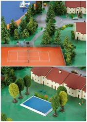 Swimming POOLS/TENNIS Court (1:500), Herpa 1:500 Scale Diecast Airliners Item Number HE520379