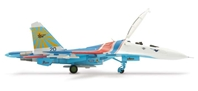 SU-27UB Russian Knights Aerobatic Team - Open Cockpit (1:200), Herpa 1:200 Scale Diecast Airliners Item Number HE551816