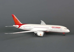 Air India 787-8 (1:200) Non-Flexed Wing, With Gear, no stand, Hogan Wings Collectible Airliner Models Item Number HG0977G