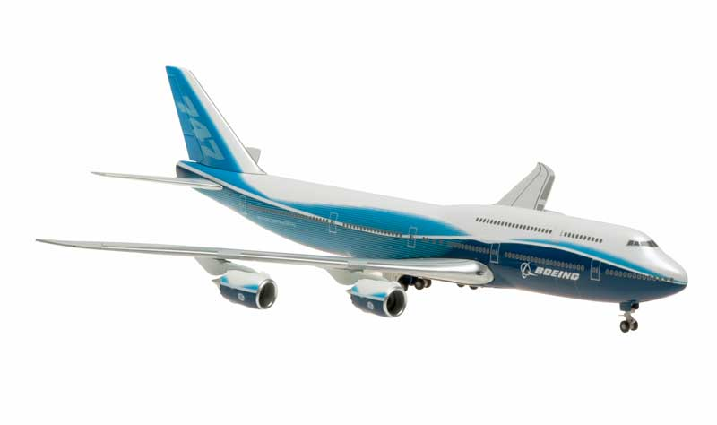 Boeing 747-8 House Colors, Straight Wings, No Stand (1:400), Hogan Wings Collectible Airliner Models Item Number HG40106
