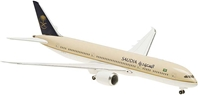 Saudi 787-9, No Stand, Ground Configuration, Unflexed Wings, No Registration Numbers (1:400), Hogan Wings Collectible Airliner Models Item Number HG5156