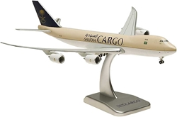 Saudi Cargo 747-8F Flexed Wings & Stand HZ-A14 (1:400), Hogan Wings Collectible Airliner Models Item Number HG5446