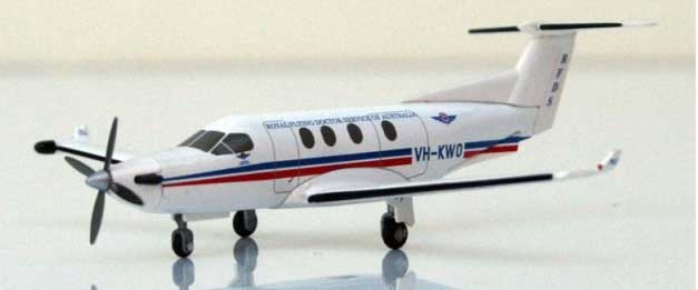 Royal Australia Flying Doctor Pilatus PC-12 (1:150) VH-KWO, Hogan Wings Collectible Airliner Models Item Number HG5712