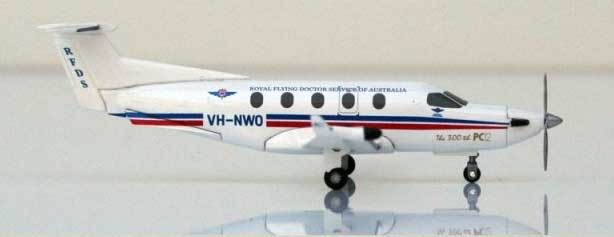 Royal Australia Flying Doctor Pilatus PC-12 (1:150) VH-NWO, Hogan Wings Collectible Airliner Models Item Number HG5736