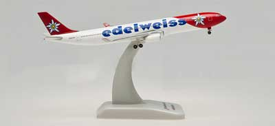Edelweiss Air A330-300 (1:500), Hogan Wings Collectible Airliner Models Item Number HG5989