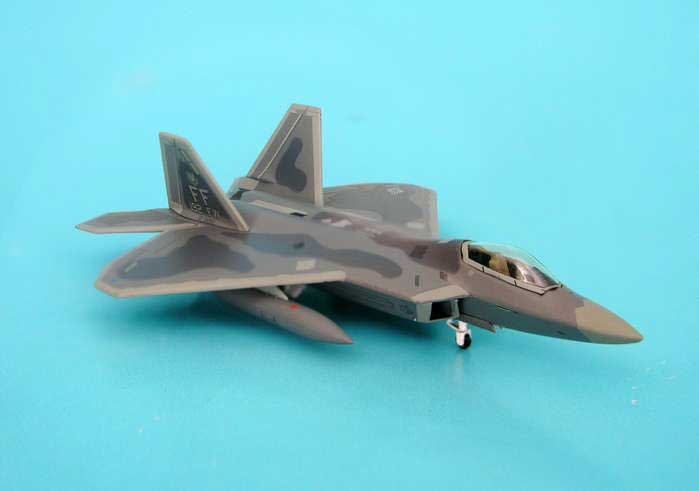 F-22A USAF Langley Afb 192ND Fw Tail Code FF (1:200), Hogan Wings Collectible Airliner Models Item Number HG6863