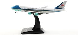 Air Force One VC25/747-200 W/Stand (1:500), Hogan Wings Collectible Airliner Models Item Number HG9437