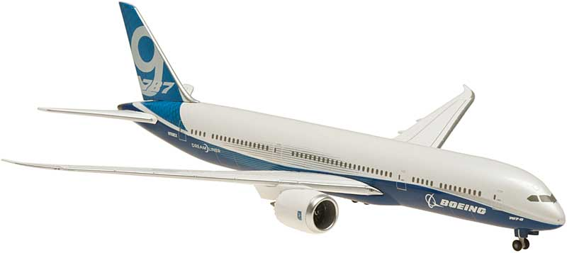Boeing 787-9 Rollout Livery, Straight Wings, No Stand, N789EX (1:400), Hogan Wings Collectible Airliner Models Item Number HG9765