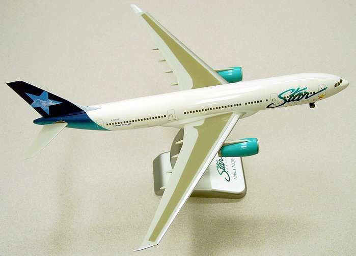 Star Airlines A330-200 W/Gear(1:200), Hogan Wings Collectible Airliner Models Item Number HG2025G
