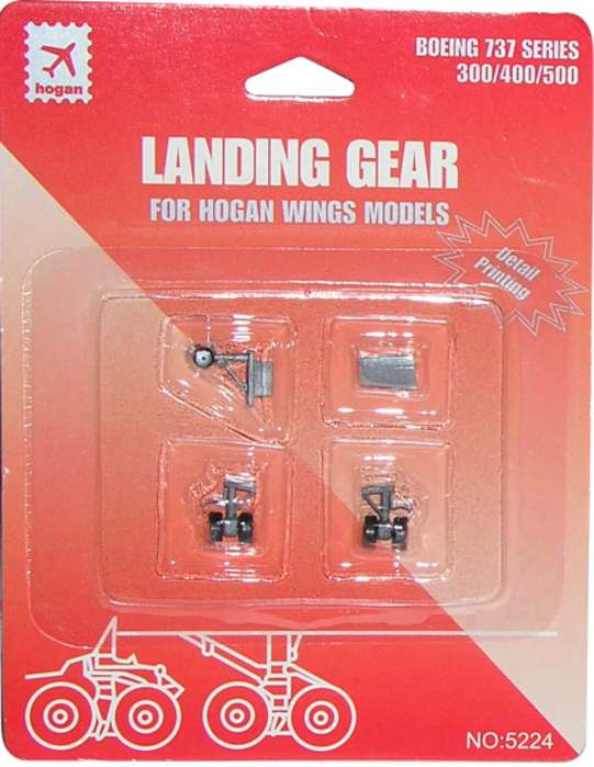 Landing Gear for Hogan B737-300/400/500 (1:200), Hogan Wings Collectible Airliner Models Item Number HG5224