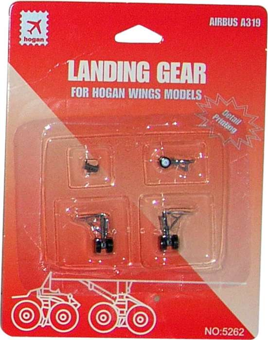 Landing Gear for Hogan A319 (1:200), Hogan Wings Collectible Airliner Models Item Number HG5262