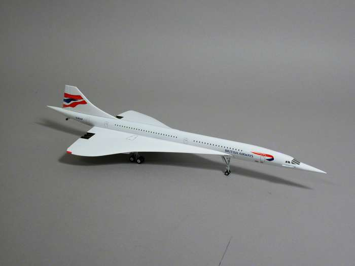 British Airways Concorde TAIL #G-BOAB (1:200), Hogan Wings Collectible Airliner Models Item Number HG8843AB