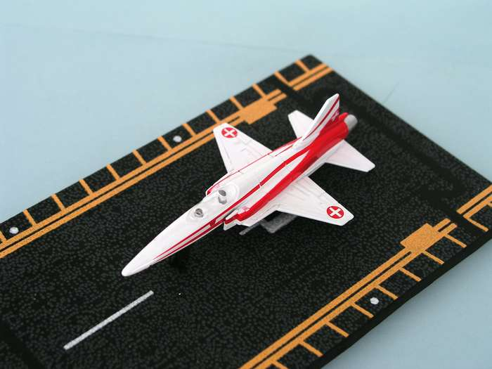 "F-20 Tigershark Swiss Air Force (Approx. 5""), Hot Wings Toy Airplanes Item Number HW14141"