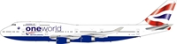 British Airways Boeing 747-400 G-CIVP with stand and collectors coin (1:200)