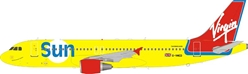 Virgin Sun Airbus A320-200 G-VMED (1:200), InFlight 200 Scale Diecast Airliners Item Number B-320-VSUN-01