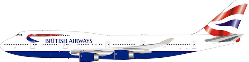 British Airways Boeing 747-400 G-BNLP (1:200) limited 96 models  - Preorder item, order now for future delivery, InFlight 200 Scale Diecast Airliners, Item Number B-744-BA-0119