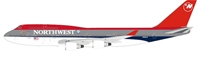 Northwest Airlines Boeing 747-400 N665US With Stand (1:200) by InFlight 200 Scale Diecast Airliners