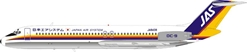 JAS Japan Air System DC-9-41 JA8439 Polished (1:200), InFlight 200 Scale Diecast Airliners Item Number B-DC9-40-01P