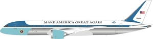 "USAF Boeing 787-9 Air Force One 78000 polished (1:200) Fantasy Model ""Make America Great Again"", InFlight 200 Scale Diecast Airliners Item Number B-USAF-789-02P"
