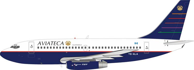 Aviateca Boeing 737-200 TG-ALA With Stand (1:200)