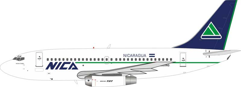 Nica Boeing 737-200 N501NG With Stand (1:200)