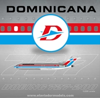 Dominicana B727-200 Polished HI-242CT (1:200)