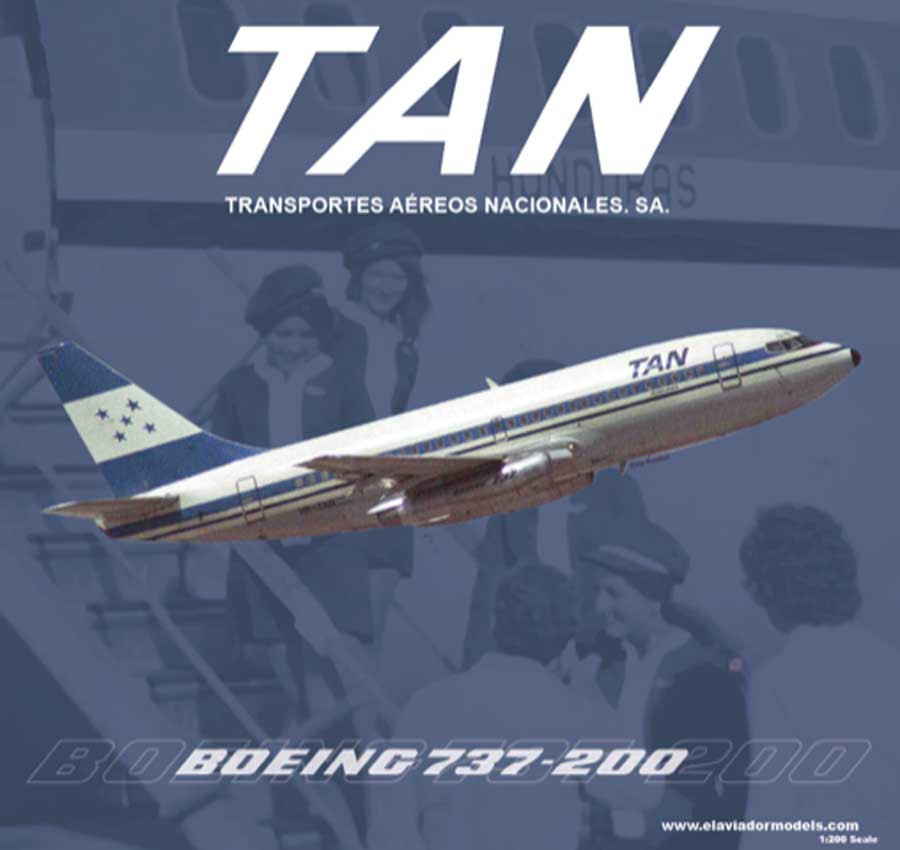 TAN Airlines B737-200 HR-TNR (1:200)