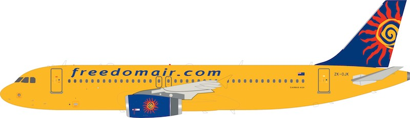 Freedom Air Airbus A320-200 ZK-OJK (1:200) - Preorder item, order now for future delivery, InFlight 200 Scale Diecast Airliners, Item Number IF320SJ0219