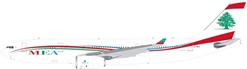 Middle East Airlines ? MEA  Airbus A330-200 OD-MEA With Stand (1:200) by InFlight 200 Scale Diecast Airliners