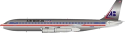 American Airlines Air Berlin Boeing 707-100 N7509A Polished (1:200) by InFlight 200 Scale Diecast Airliners Item Number: IF701AB001P