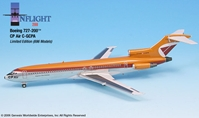 CP Air 727-200 (1:200) Empress of San Francisco - Polished Finish, InFlight 200 Scale Diecast Airliners Item Number IF722001