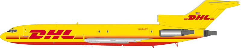 DHL Boeing 727-200 N784DH With Stand (1:200)