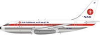 NAC New Zealand National Airways Corporation Boeing 737-219 ZK-NAC (1:200) , InFlight 200 Scale Diecast Airliners, Item Number IF732NZ1218P