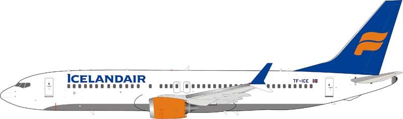 Icelandair Boeing 737-8Max TF-ICE (1:200), InFlight 200 Scale Diecast Airliners Item Number IF738MAXFI001