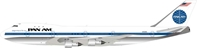 Pan Am Boeing 747-100 N733PA Polished, with stand (1:200)