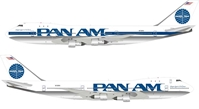 "Pan American World Airways, Pan Am 747-121 N735PA ""Clipper Spark of the Ocean"" (1:200) , InFlight 200 Scale Diecast Airliners, Item Number IF741PAA0918"