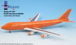 Braniff International Ultra 747-200 (1:200), InFlight 200 Scale Diecast Airliners Item Number IF742005