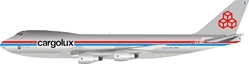 Cargolux Boeing 747-2R7F/SCD LX-DCV (1:200) 100 MODELS - Preorder item, order now for future delivery, InFlight 200 Scale Diecast Airliners, Item Number IF742CV1018P